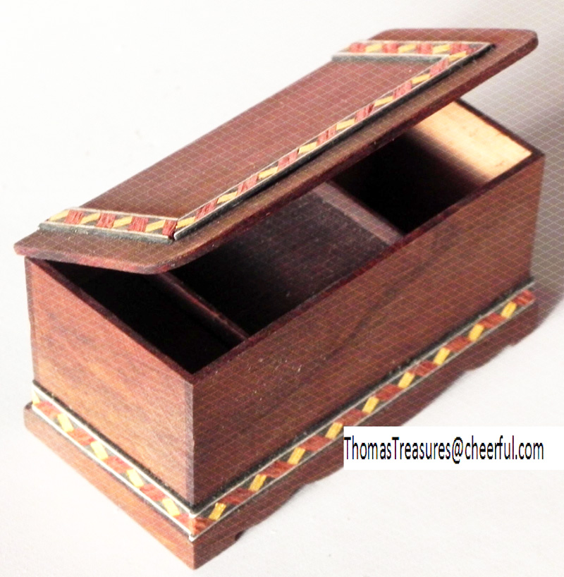 Mini blanket box, open